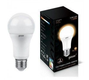 Лампочка LED A60 globe 12W E27 3000K 1/10/50 102502112