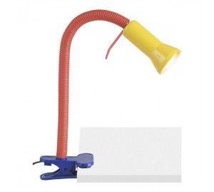 Детская настольная лампа на прищепке с выключателем Flex 24705/72
