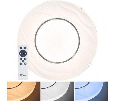 Настенно-потолочный светильник светодиодный с пультом регулировкой цветовой температуры и яркости ночным режимом Звездное небо 41235
