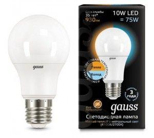 Лампочка LED A60 10W E27 2700K/4100K CTC 1/10/50 102502110-T