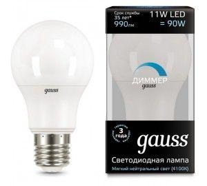 Лампочка LED A60-dim E27 11W 4100К диммируемая 1/10/50 102502211-D