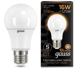 Лампочка LED A60 16W E27 3000K 1/10/50 102502116