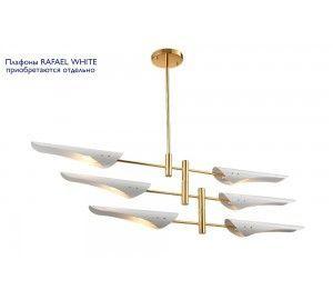 Люстра (без плафонов) Crystal Lux RAFAEL SP6 GOLD