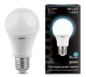 Лампочка LED A60 E27 7W 4100K 1/10/40 102502207