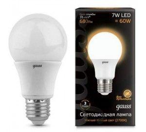 Лампочка LED A60 E27 7W 3000K 1/10/50 102502107