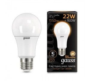 Лампочка LED A70 22W E27 3000K 1/10/50 102502122