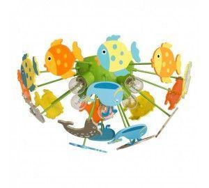 Детская люстра для девочки с рыбками Улыбка 365014605