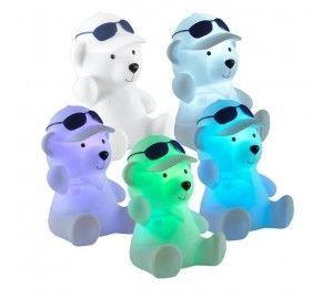 Детский ночник мишка светодиодный RGB настольный с выключателем на батарейках Night Light 357339