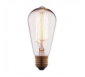 Ретро лампочка накаливания Эдисона груша E27 40W 2400-2800K 1007