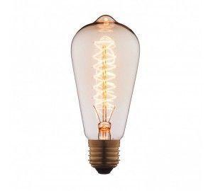 Ретро лампочка накаливания Эдисона груша E27 40W 2400-2800K 6440-CT