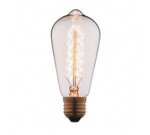 Ретро лампочка накаливания Эдисона груша E27 40W 2400-2800K 6440-S