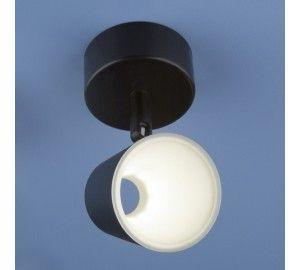 Светодиодный спот DLR025 5W 4200K черный матовый