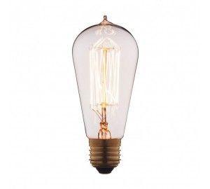 Ретро лампочка накаливания Эдисона груша E27 40W 2400-2800K 6440-SC
